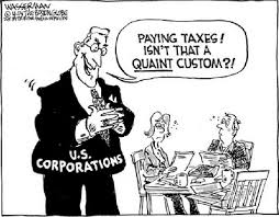 Corporations paying taxes