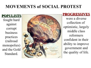 Movements Populist & Progressive